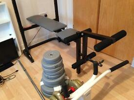 Weight lifting fitness bench