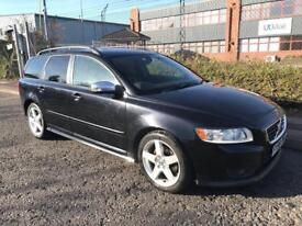 *** 2009 VOLVO V50 2.0 D R-DESIGN FULL SERV HISTORY+TWO TONE LEATHER+DRIVES SUPERB+PRIVACY GLASS***