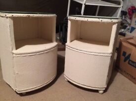 2 x vintage bedside tables