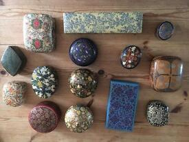 Pretty collection of decoupage boxes