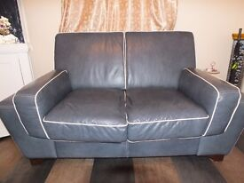 Italian Leather 3 Seat and Matching 2 Seat sofa's