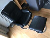 Ikea black swivel reclining armchair