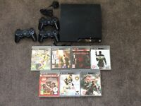 Sony Playstation PS3 250GB Slim with 7 games 3 controllers