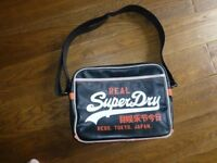 Good used condition Black and orange Superdry Mens Messenger/ Alumni bag