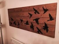 Large Birds Wood Wall Art