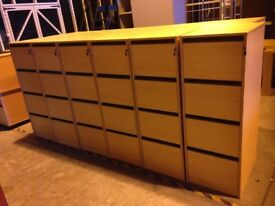 New 4 Drawer Wood Filing Cabinet with Keys