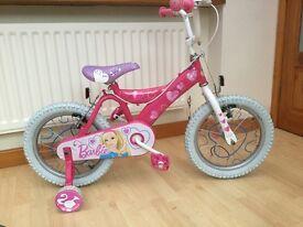"""Girls Pink Barbie Bike 16"""" Wheels"""