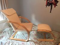 Nursing chair and footstool