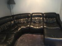 5 seater corner sofa with foot stool