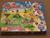 ( New ) John Adams 10443 Ezee Beads 3D Little Friends Game