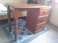 Solid wood desk - pine furniture