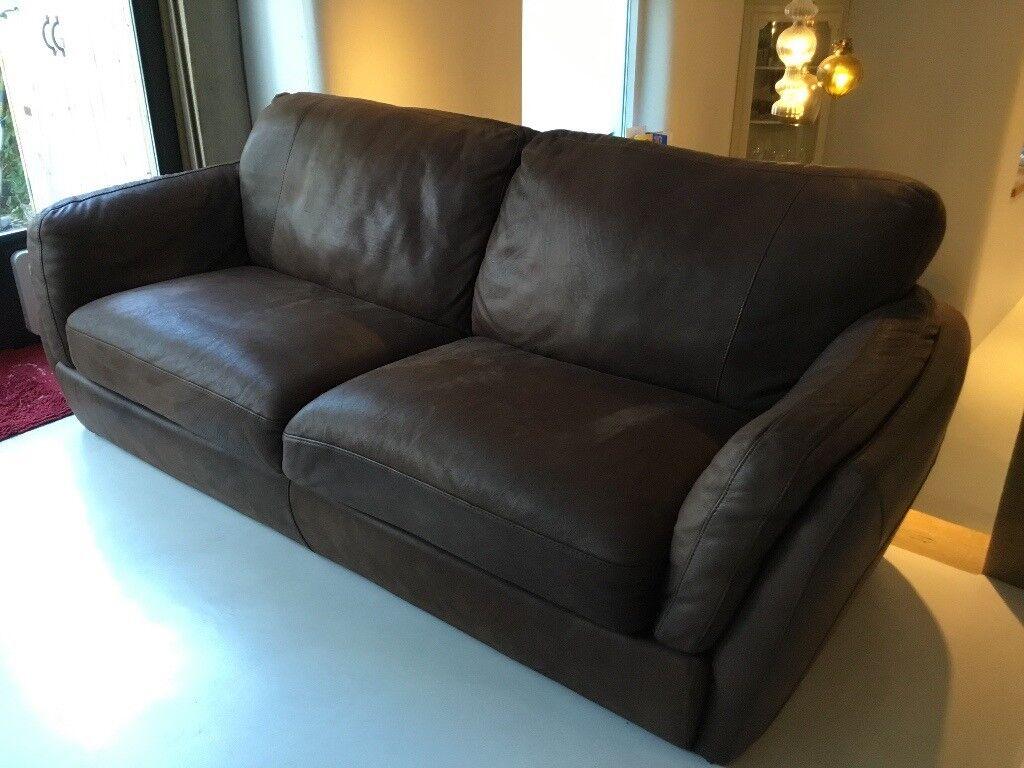Natuzzi editions 3 seater leather sofa