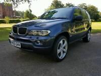 2005(55) BMW X5 3.0D METALLIC BLUE /RARE MANUAL 6 SPEED GEARBOX / FULL SERVICE HISTORY / MOT 07-2017