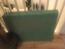 Free 11 boards of 7mm fibre board for use under laminate flooring. 800 x 600 x 7mm