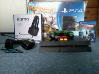 Ps4 with triton headset and game