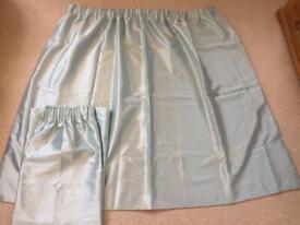 Dunelm Pencil Pleat Curtains, Drop 168cm, Width 137cm, Pale Green / Mint Colour
