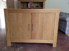 Two oak cabinets for sale