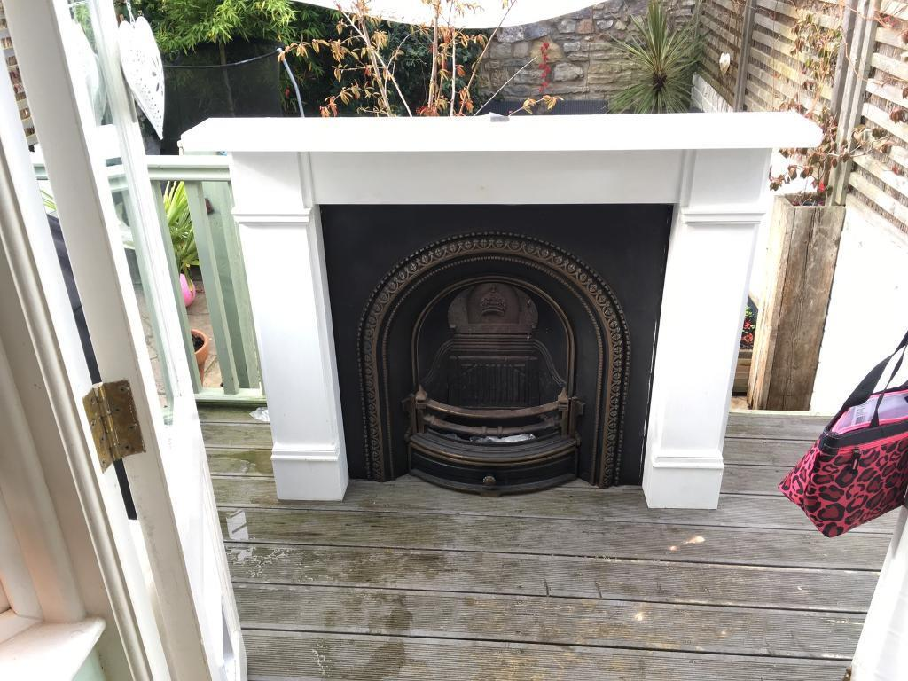 Cast iron Victorian style fireplace and surround