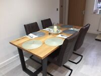 Contemporary Jefferson dining chairs x4