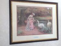 Picture Feeding The Swans by George S Knowles (1863-1931)