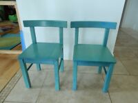 Two solid wood kids chairs