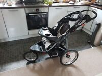 Stroller, baby travel system (suitable for jogging/active parent)