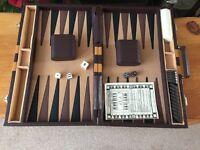 Backgammon set in case