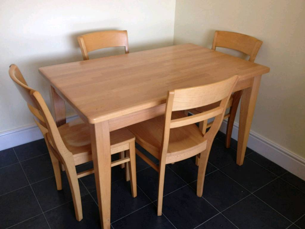 Dining Table And Chairs Solid Beach