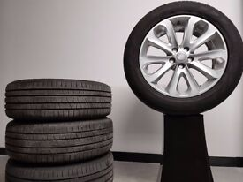 """Genuine New Delivery Mileage Range Rover 20"""" Silver Alloy Wheels Style 502 with Tyres - Set of 4"""