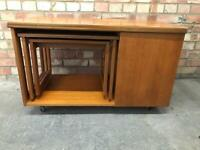 Mid Century McIntosh Teak Tristor Tri Form Coffee Table