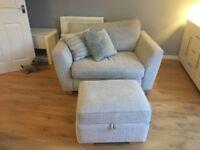 DFS Sophia Sofa, Snuggle Chair and Storage Footstool