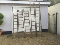 Vintage industrial Wooden Ladders