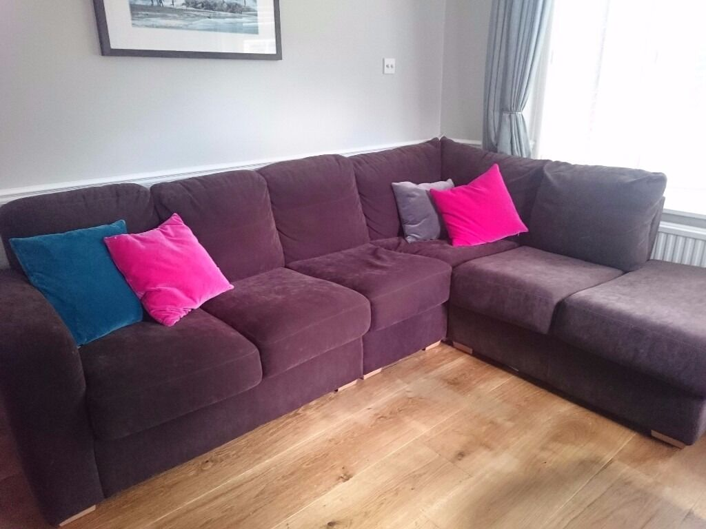 Corner Sofa And Arm Chair In Brown Nova Life Wipe Clean