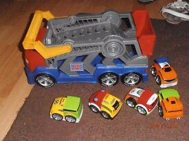 Mega blocks car transporter