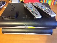 2 x Sky Plus HD boxes for sale