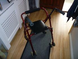 Rollator walking aid (4 wheel)