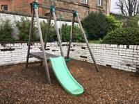 TP swing and slide with 4 in 1 swing seat