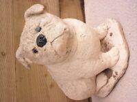 Dog garden ornament/statue, very heavy stone