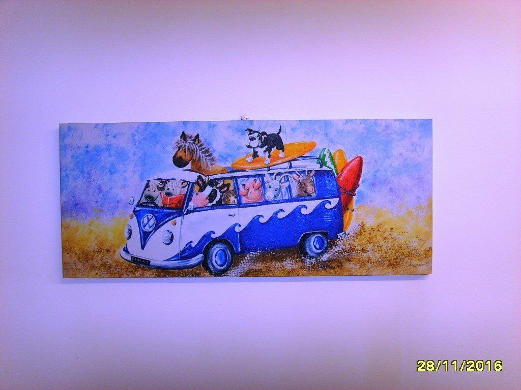 Childs Campervan/Animal Canvas