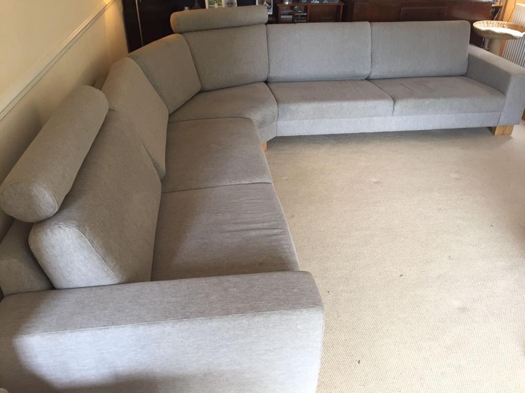 Natuzzi Large 8 Seater Corner Fabric Sofa