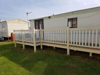 3 bedroom 6 berth caraavn to.rent the chase site Ingoldmells anchor lane