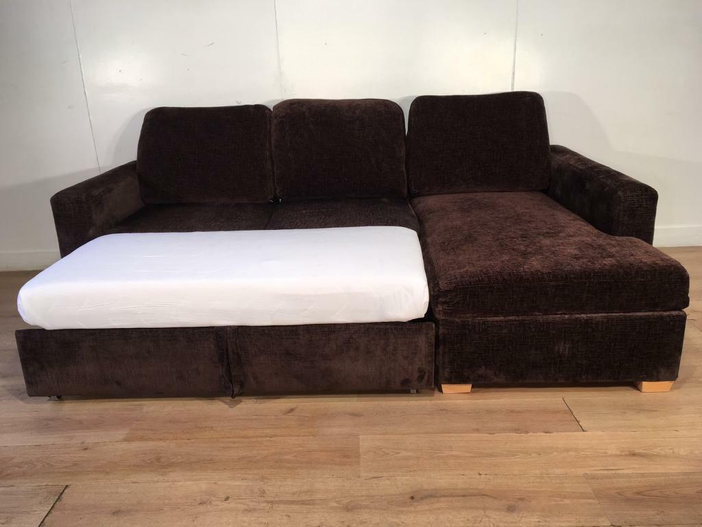 John Lewis Brown Corner Sofa Bed With Free Delivery Within