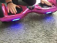 Pink chrome Bluetooth hoverboard