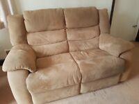 2 seater sofa and armchair (mocha colour)