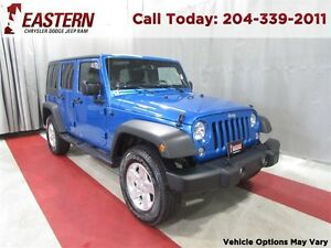 2015 Jeep WRANGLER UNLIMITED 3.6L 4X4 UCONNECT 430 USB RADIO  A/