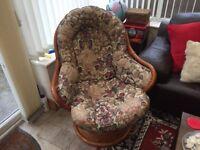 Cane Swivel/Rocking chair