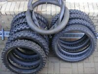 Tyres MotorCross Bike Tyres Various Sizes £60 the lot. All Various Conditions
