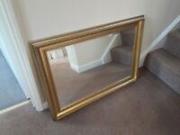 Lovely gilt framed mirror. 90cm x 65cm. Excellent condition. Lovely addition to any room.