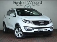 KIA SPORTAGE 1.7 Crdi Isg 2 5dr [Electric Sunroof, Parking Sensors] (white) 2013