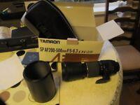 Tamron 200-500mm Lens